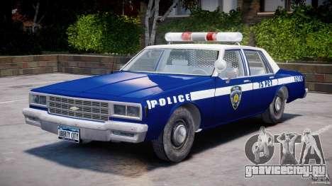 Chevrolet Impala Police 1983 [Final] для GTA 4 вид сбоку