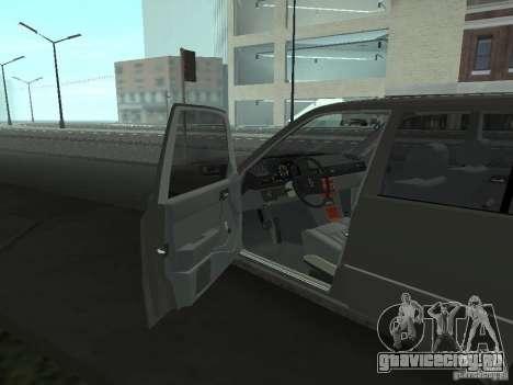 Mercedes-Benz 250D для GTA San Andreas вид изнутри