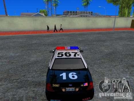 Ford Crown Victoria San Andreas State Patrol для GTA San Andreas вид сзади