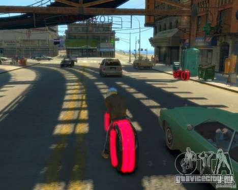 Мотоцикл из Трон (красный неон) для GTA 4 вид слева