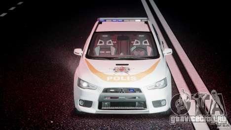 Mitsubishi Evolution X Police Car [ELS] для GTA 4 вид снизу