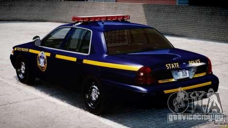 Ford Crown Victoria New York State Patrol [ELS] для GTA 4 вид справа