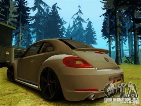 Volkswagen New Bettle 2013 Edit для GTA San Andreas вид сзади слева