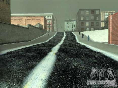 Снег v2.0 для GTA San Andreas одинадцатый скриншот