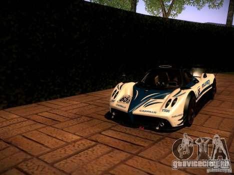 Pagani Zonda R для GTA San Andreas вид изнутри