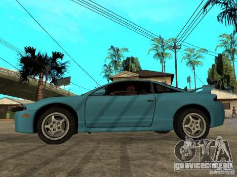 Mitsubishi Eclipse 1998 Need For Speed Carbon для GTA San Andreas вид слева