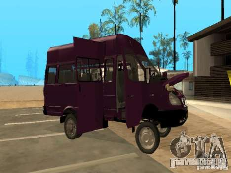 ГАЗель 32213 маршрутное такси для GTA San Andreas вид изнутри