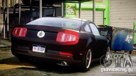 Ford Mustang V6 2010 Chrome v1.0 для GTA 4 вид сверху
