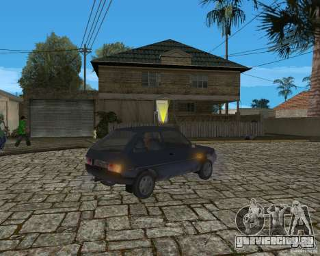 ЗАЗ 1102 Таврия для GTA San Andreas вид сзади слева