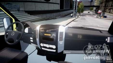 Mercedes-Benz Sprinter PK731 Ambulance [ELS] для GTA 4 вид справа