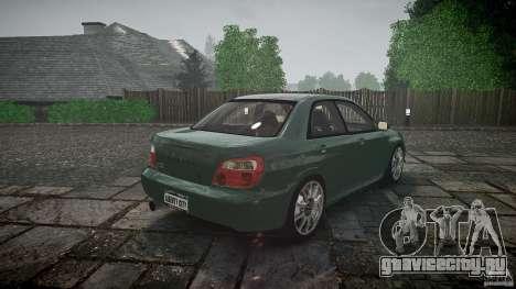 Subaru Impreza v2 для GTA 4 вид снизу