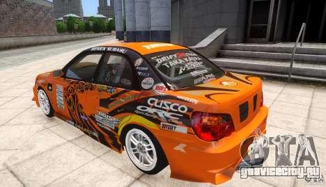 Subaru Impreza WRX STi GDB Team Orange для GTA 4 вид слева