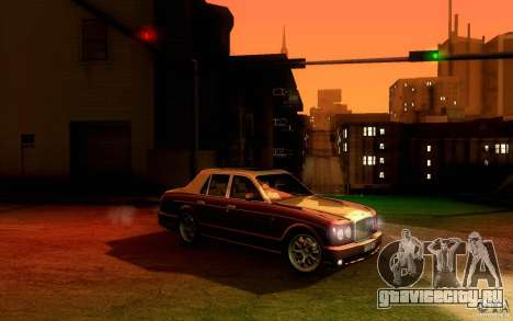 Bentley Arnage R 2005 для GTA San Andreas вид сзади