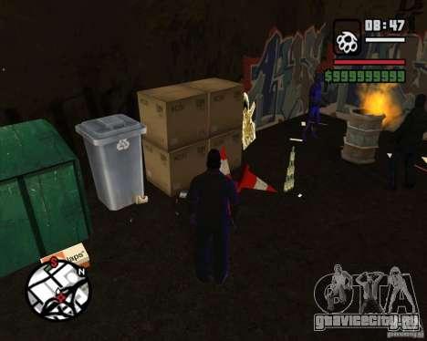 Бомжи в переулке для GTA San Andreas третий скриншот