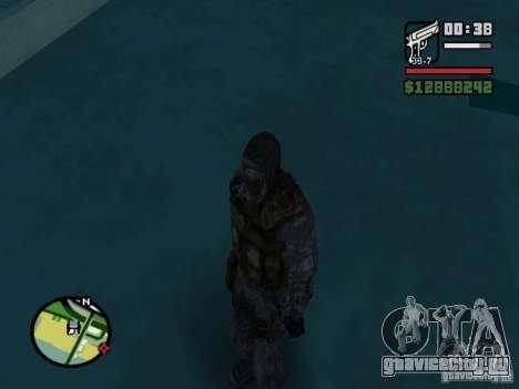 Сталкер наёмник в новом комбезе для GTA San Andreas четвёртый скриншот
