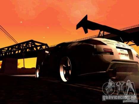 Nissan 350Z Avon Tires для GTA San Andreas вид изнутри