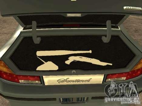 HD Mafia Sentinel для GTA San Andreas вид сзади