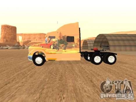 Peterbilt 387 скин 3 для GTA San Andreas вид сзади слева