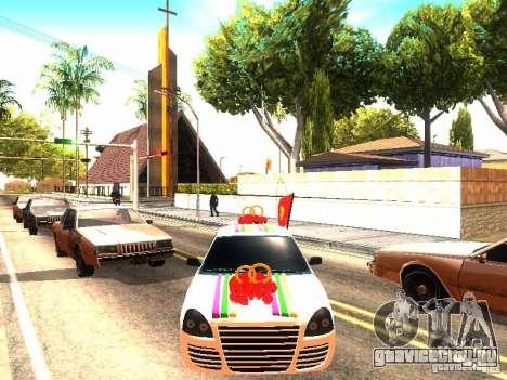 ВАЗ 2170 Свадебная для GTA San Andreas вид справа