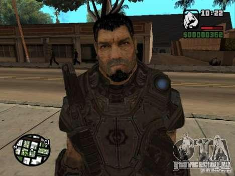 Доминик Сантьяго из игры Gears of War 2 для GTA San Andreas четвёртый скриншот