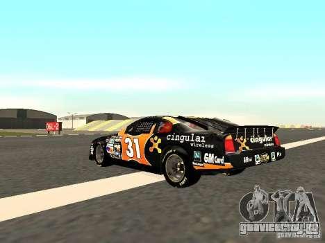 Chevrolet Monte Carlo Nascar CINGULAR Nr.31 для GTA San Andreas вид сзади слева