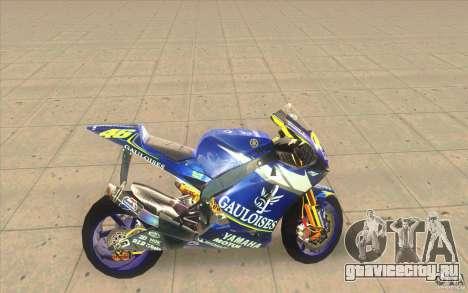 Yamaha M1 Rossi для GTA San Andreas вид слева