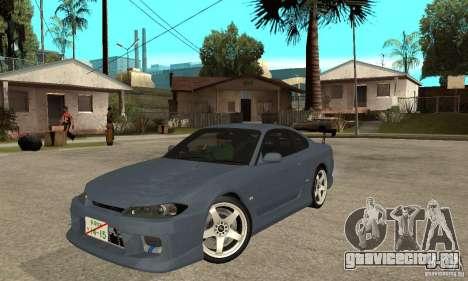 Nissan Silvia S15 Tun для GTA San Andreas вид слева