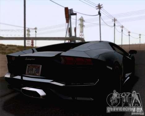 Lamborghini Aventador LP700-4 2011 для GTA San Andreas вид сзади