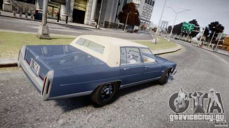 Cadillac Fleetwood Brougham 1985 для GTA 4 вид изнутри