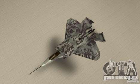 YF-22 Starscream для GTA San Andreas вид справа