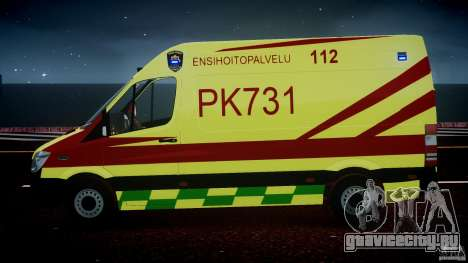 Mercedes-Benz Sprinter PK731 Ambulance [ELS] для GTA 4 салон