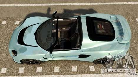 Lotus Exige S 2012 для GTA 4 вид справа