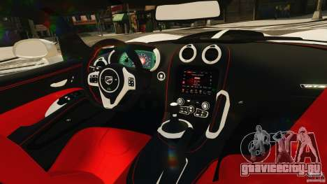 Dodge Viper GTS 2013 для GTA 4 вид сбоку