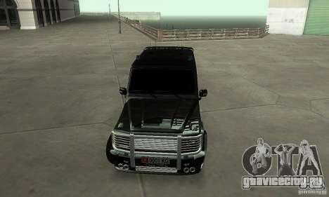 Mercedes Benz G500 ART FBI для GTA San Andreas вид сзади