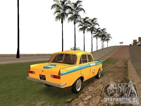Иж 412 ГАИ для GTA San Andreas вид сзади слева