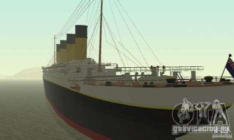 RMS Titanic для GTA San Andreas вид слева