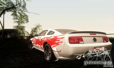 Ford Mustang GT Tunable для GTA San Andreas вид сзади
