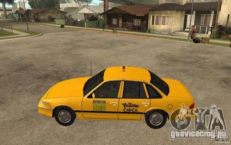 Ford Crown Victoria Taxi 1992 для GTA San Andreas вид слева