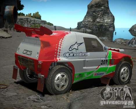 Mitsubishi Pajero Proto Dakar EK86 Винил 2 для GTA 4 вид сзади слева