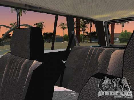 ВАЗ 2104 для GTA San Andreas вид изнутри