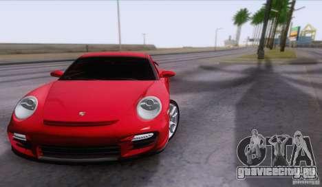 Porsche 911 GT2 для GTA San Andreas вид изнутри