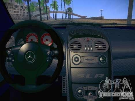 Mercedes SLR McLaren 722 для GTA San Andreas вид справа