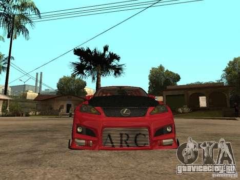 Lexus Drift Car для GTA San Andreas вид справа