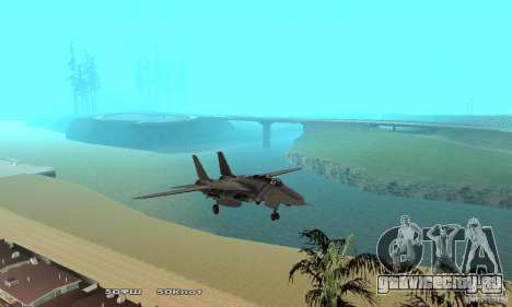F14W Super Weirdest Tomcat Skin 1 для GTA San Andreas вид сбоку