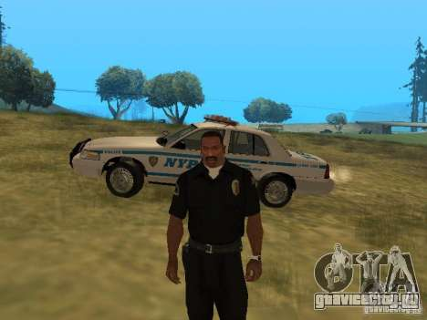 Ford Crown Victoria NYPD Police для GTA San Andreas вид сверху