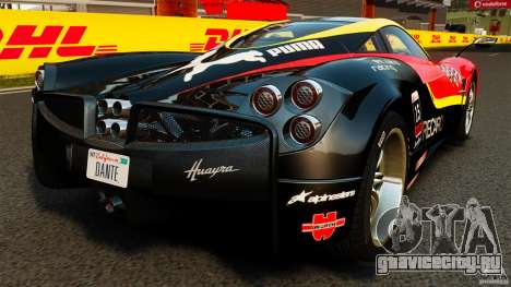 Pagani Huayra 2011 [EPM] для GTA 4 вид сзади слева