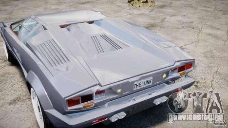 Lamborghini Countach для GTA 4 вид изнутри