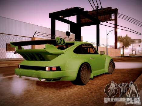 Porsche 911 Turbo RWB Pandora One для GTA San Andreas вид справа