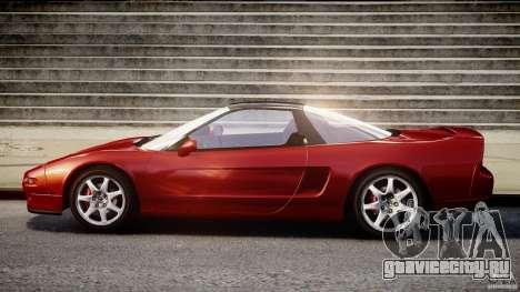 Acura NSX 1991 для GTA 4 вид сзади