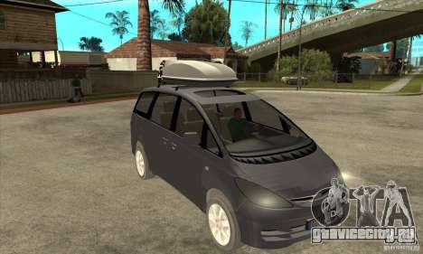 Toyota Estima для GTA San Andreas вид сзади